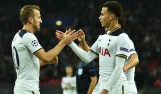 Harry Kane and Dele Alli of Spurs