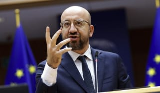 European Council President Charles Michel addresses the European parliament