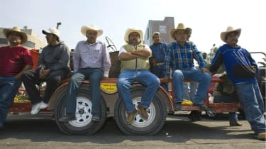 Mexican farmers protest against Nafta