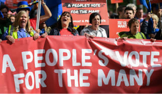 A People's Vote march in Liverpool on Saturday
