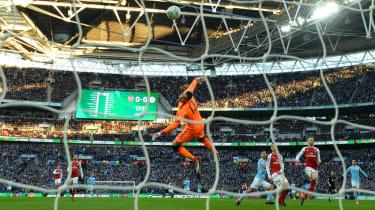 Carabao Cup Arsenal 0 Manchester City 3 Sergio Aguero goal