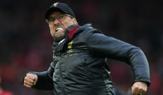 Liverpool manager Jurgen Klopp celebrates the victory against Tottenham at Anfield