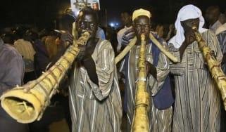 Sudanese protestors on the streets of Khartoum