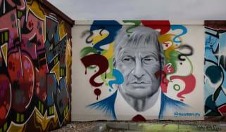 David Amess graffiti