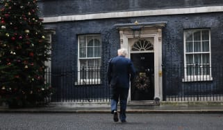Boris Johnson returns to Downing Street following a Cabinet Meeting at the FCO.