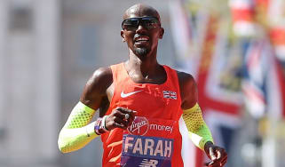 Mo Farah finished third in the elite men's race at the 2018 London Marathon