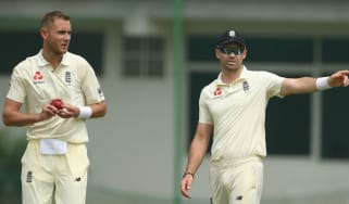 England bowler Stuart Broad (left) replaces James Anderson for the third Test against Sri Lanka