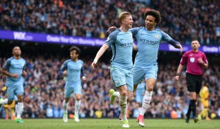 Kevin De Bruyne Leroy Sane Manchester City