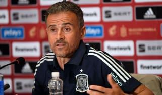 Spain head coach Luis Enrique