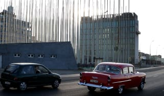 The US embassy in Havana, Cuba where the brain injuries were first reported