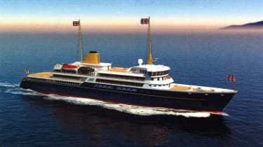 An artist's impression of the new national flagshipyacht issued by Downing Street