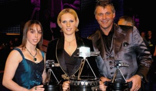 Zara Tindall, the SPOTY winner in 2006, with runners-up Beth Tweddle and Darren Clarke