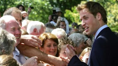 Prince William greets wellwishers in July 2004
