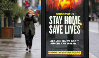 Covid stay home sign
