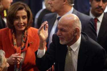 Afghan President Ashraf Ghani at the 2020 Munich Security Conference