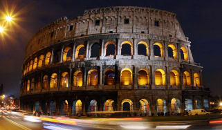 The ancient Roman Colosseum is illuminated to mark World AIDS Day, 01 December 2007 in Rome. The World Health Organization who started World AIDS Day promotes awareness and focus on the globa