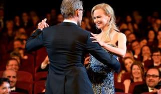 Nicole Kidman dances with Lambert Wilson at Cannes Film Festival