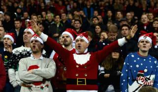 Christmas New Year sport football on TV
