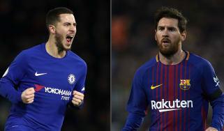 Chelsea v Barcelona Champions League Eden Hazard Lionel Messi
