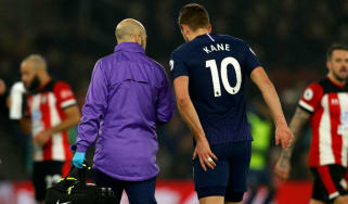 Tottenham and England striker Harry Kane injured his hamstring against Southampton
