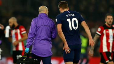 Tottenham and England striker Harry Kane injured his hamstring against Southampton