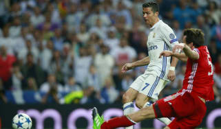 Cristiano Ronaldo scores against Bayern Munich
