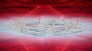 Dancers perform during the opening ceremony of Tokyo 2020 Olympic Games