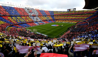 FC Barcelona's Camp Nou stadium has a 99,354-seat capacity