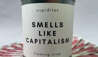 A 'Smells Like Capitalism' candle