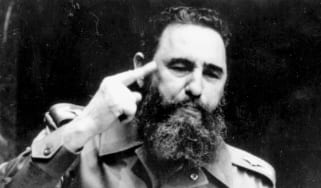 1979:The Cuban revolutionary Fidel Castro, Prime Minister from February 1959, addressing the United Nations in New York.(Photo by Keystone/Getty Images)