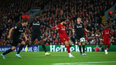 Mohamed Salah scored Liverpool's winner against Red Bull Salzburg at Anfield