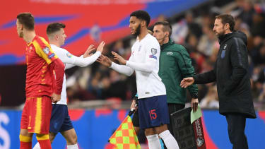 Joe Gomez replaced Mason Mount in the 70th minute of England's 7-0 win against Montenegro