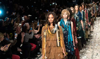 Models at the Burberry Prorsum show