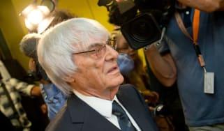 F1 Chief Executive Bernie Ecclestone leaves the court in Munich