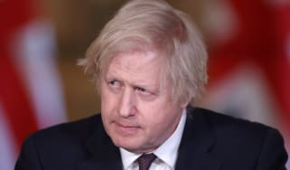 Boris Johnson at the daily press briefing