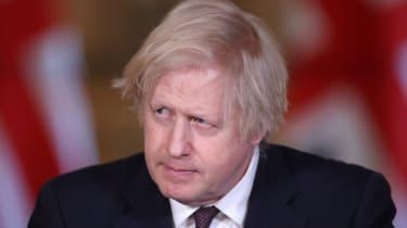 Boris Johnson at the daily press briefing