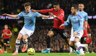 Marcus Rashford scored in Man Utd's 2-1 Premier League win at Man City on 7 December