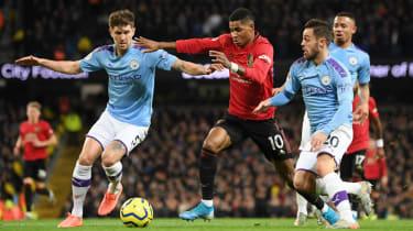 Marcus Rashford scored in Man Utd's 2-1 Premier League win at Man City on 7 December