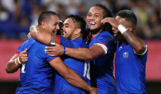 Samoa beat Russia 34-9 in their opening match of Rugby World Cup pool A