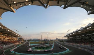 The F1 Abu Dhabi Grand Prix is held at the Yas Marina Circuit