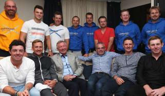 Alex ferguson addresses the 2014 European Ryder Cup team