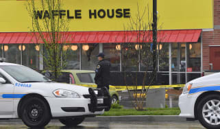 Four people have been killed after a semi-naked gunman opened fire on a Tennessee Waffle House