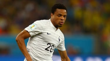French striker Loic Remy at the World Cup in Brazil