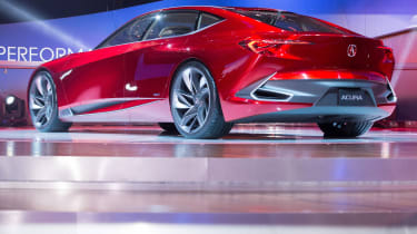 Acura unveils its new Precision Concept at their press conference at the 2016 North American International Auto Show in Detroit, Michigan, January12, 2016. AFP PHOTO/Geoff ROBINS / AFP / GEOF