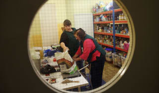A food bank in Brixton