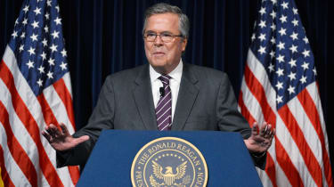 """SIMI VALLEY, CA - MARCH 08:Former Florida Governor Jeb Bush speaks at the Reagan Library after autographing his new book """"Immigration Wars: Forging an American Solution"""" on March 8, 2013 in S"""