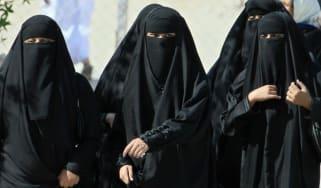 SAudi Arabia women, niqab