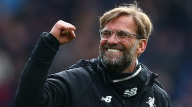 Liverpool boss Jurgen Klopp hopes to be celebrating at the end of the Premier League season