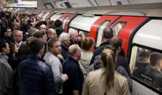 Underground train tube London