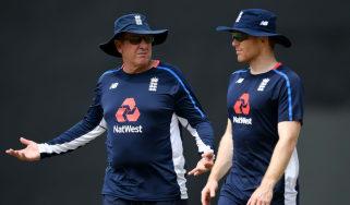 England cricket head coach Trevor Bayliss and one-day captain Eoin Morgan